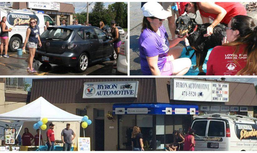 Our annual car wash was a success!
